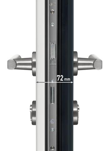 Exemple de porte d'entrée monobloc de 72 mm avec 5 points de fermeture. Source image : http://www.maporteamoi.fr/