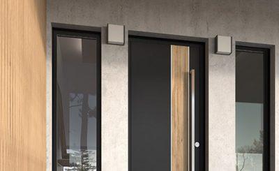 Porte d'entrée design bicolore K-Line