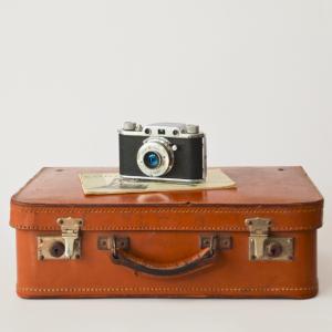 Valise voyage et appareil photo