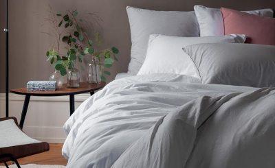 Parure de lit couleur nuage marque Carré Blanc